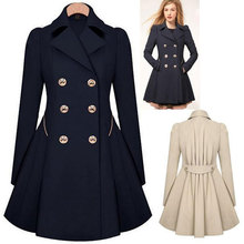 Fashion Trench Coat For Women Long Double Breasted Slim Female Wind Breaker Outerwear Sobretudo Feminino Spring Autumn 2016