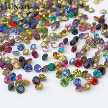 JUNAO ss6 Mix Color Crystals Glass Rhinestone Round Nail Art Crystal Stones Point Strass Beads for DIY Jewelry Crafts 1440pcs