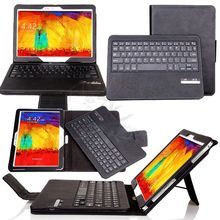 For Samsung Galaxy Note 10.1 2014 Edition P600 P601 Removable Bluetooth Touchpad Mouse Keyboard Leather Case Stand Cover