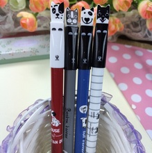 Cute Spotted dog design 0.35mm gel pen.student tool school office use office school supplies.good quality.novelty.retail great d