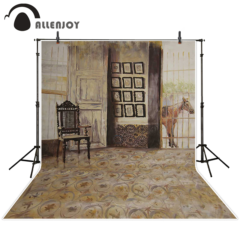 Allenjoy photographic background Videos chairs horse rugs backdrops boy kids scenic Send rolled 5x7ft<br><br>Aliexpress