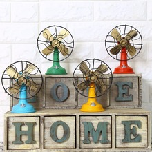 New Arrival Vintage Fan Model Home Decoration Resin Gifts Craft Bar Coffee Handicraft Furnishing Articles