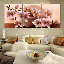 3 Piece Canvas Arts Modular Paintings Art Flower Print Home Decoration on The Wall Canvas Painting Cuadros No Frame HY95(China)