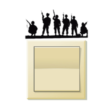 Army Shooting Vinyl Decor Light Switch Decal Decoration Wall Stickers 5WS0243