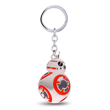 Julie Star Wars Keychain For Fans The Force Awaken BB-8 BB8 Robot Pendant Toys Key Chain Ring Fashion Accessories Alloy Llaveros