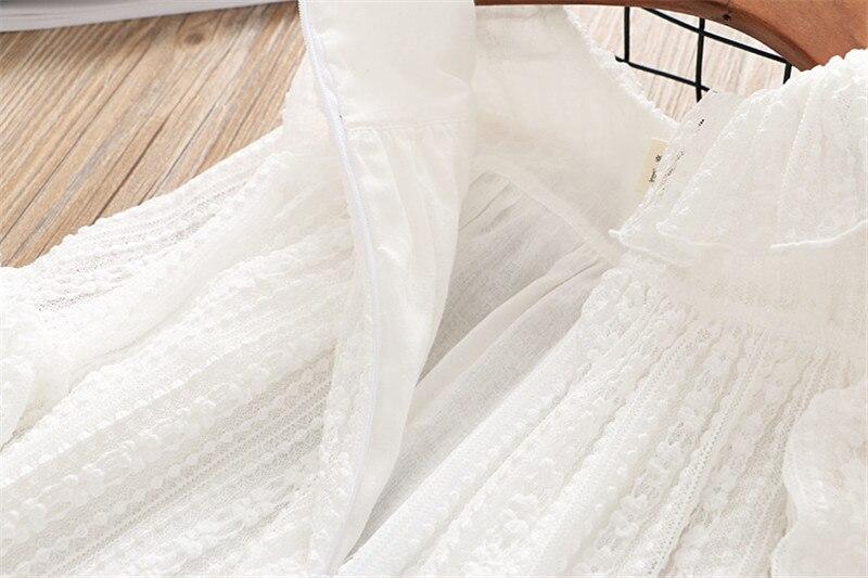 2-7 année filles robe 2018 printemps automne nouvelle mode fleur dentelle princesse robe enfant enfants robe filles vêtements filles vêtements 21