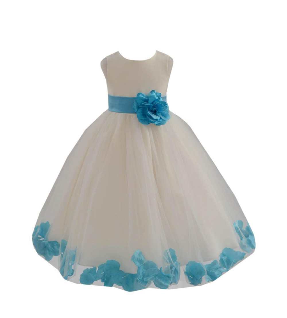 Lovely and  Cute Princess Tulle Dress Zipper Back with Big Bow Ivory Ball Gown Flower Girl Dresses 2019 Girls Pageant Dresses