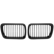 1 Pair Black Front Racing Grills Auto Accessories For BMW 3 Series 1997-1999 E36 M3 Exterior Part Racing Grill Refit