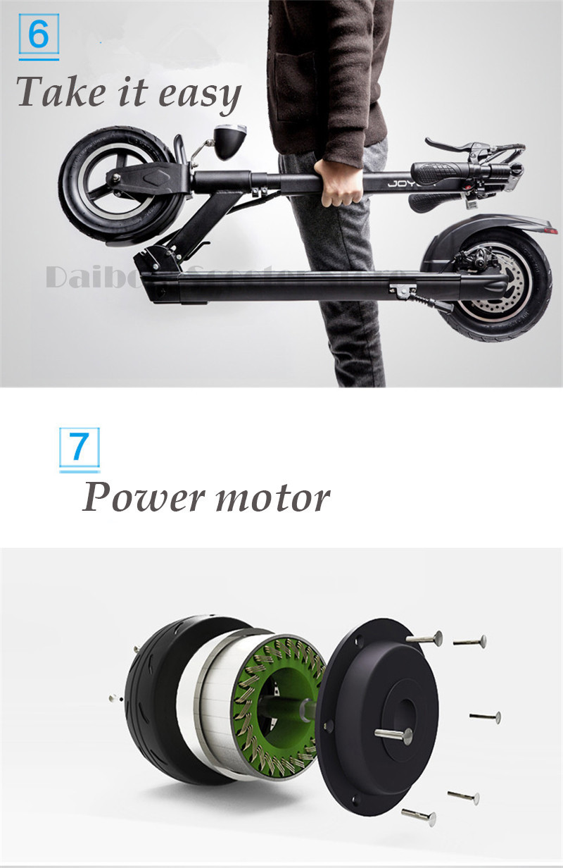 Daibot  X1 X3 X5 X5S Foldable Electirc Scooter 10 Inch folding bike Electric Skateboard Hoverboard Kick Scooter USB charging