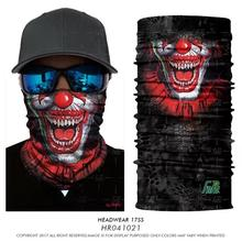 3D Seamless Bandanas Jokers Scarf Tube Coif Face Mask Halloween Headband Motorcycle Magic Bandanas Buffe Headwears Neck Warmers(China)