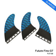 G7 Future Surfboard Fin Blue Honeycomb Future Fins High Quality Carbon Fibre Surf Fins Free Shipping