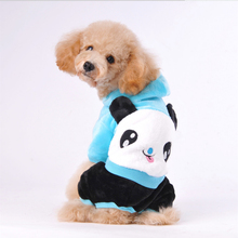 Autumn Winter Thickening Four Legs for Pet Jackets Coat Cute Lovers Panda Dog Hoodies Teddy Dog Clothes Fashion Pet Clothing(China)