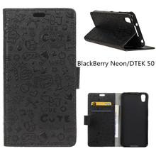 For BlackBerry Neon/DTEK 50 Case Wallet Style PU Leather Case For BlackBerry Neon DTEK50 5..2inch with Card Holder(China)