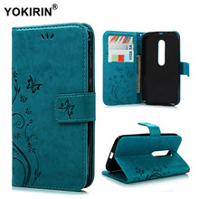 YOKIRIN Flower Printing Leather Case For Moto G3 Wallet Protective Flip Stand Phone Cover For Motorola Moto G3 G 3 3rd Gen(China)