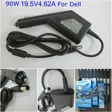 19.5V 4.62A 90W Laptop Car Charger PA-10 For Dell Vostro 1000 1088 1200 1310 1400 1500 Latitude D630 D800 D810 DC Car Adapter