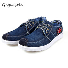 British Style New Arrival Low Price Mens Jeans Canvas Casual Shoes Breathable High Quality Casual Shoes Men Fashion Flats