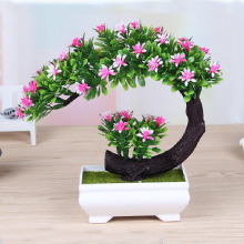 creative simulation flowers bonsai simulation plastic green plant small potted flowers plant decorative furnishing articles(China)