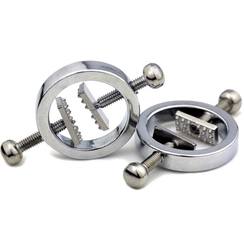 Stainless Steel Metal Nipples Clamps Breast Clips Papilla Stimulator Bondage Slave Adult Games Fetish Sex Toys Women