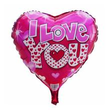 18inch Heart Foil Balloon Romantic Mylar Balloons With Printed I LOVE YOU Balloons Party Decoration Inflatable Balls