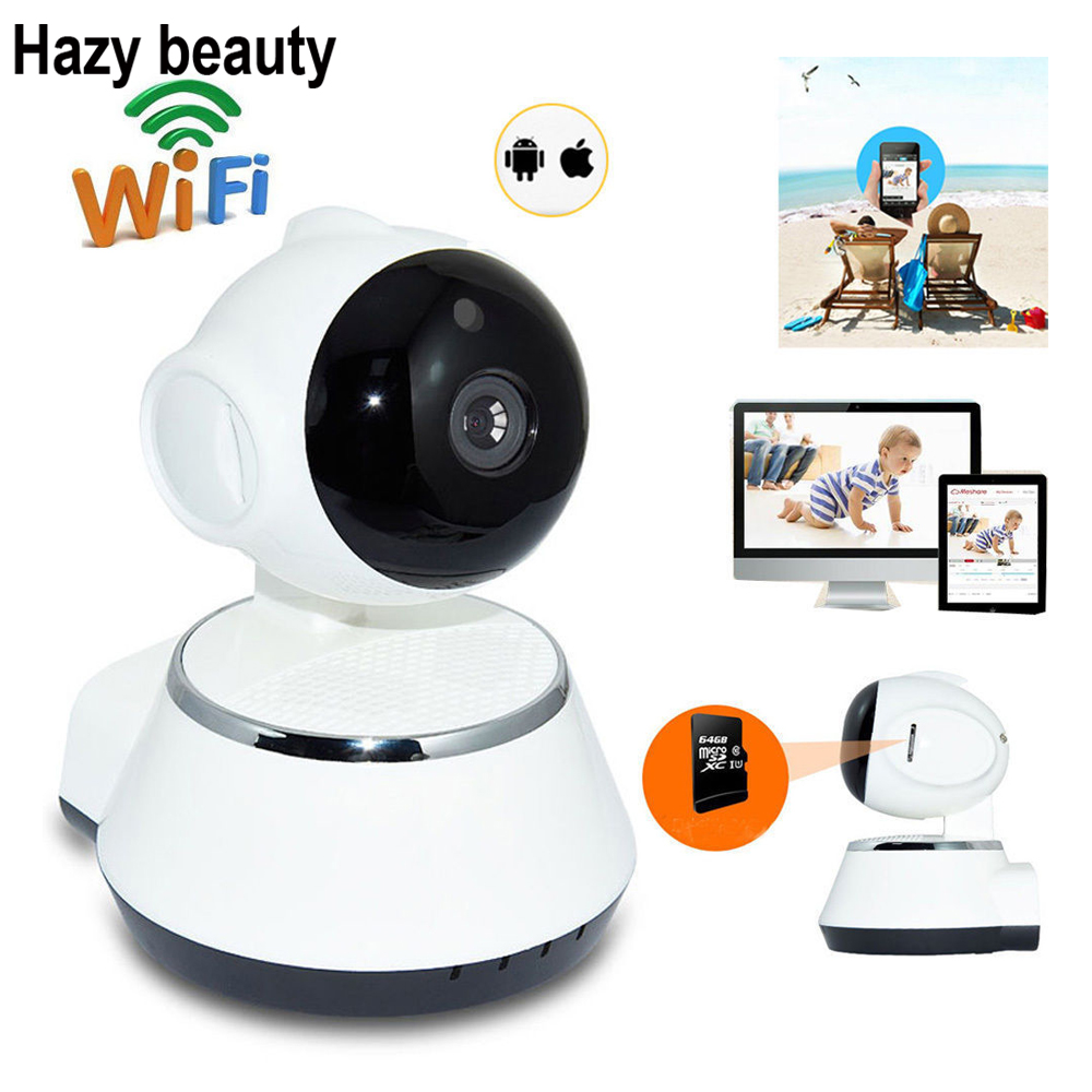 Hazy beauty 720P Security Network CCTV Wifi Camera Wireless 1.0 Megapixel HD Digital Security Ip Camera IR Infrared Night Vision<br>