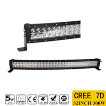 1pcs 7D 300W 32inch CREE Chips Straight LED Light Bar Offroad Led Work Driving Light Bar Combo Beam 12v 24v Truck SUV ATV 4x4
