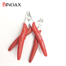 Binoax 5 inch Red Electrical Wire Cable Cutters Cutting Side Snips Flush Pliers Nipper Hand Tools