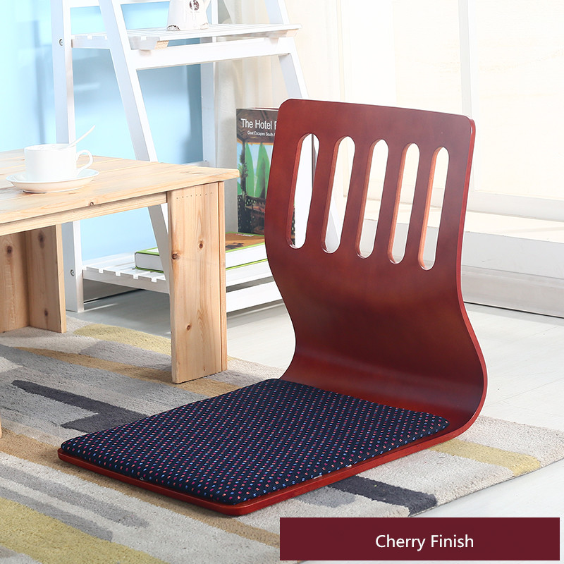 (2pcs/lot)Japanese Furniture Style For Living Room Kotatsu Cherry Finish Tatami Zaisu Legless Floor Seating Chairs Wholesale<br>