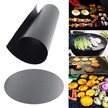 1PC Teflon Non-stick Reusable Baking Barbecue Grill Mat for Microwave Oven Plate Portable Easy Clean Outdoor BBQ Accessories