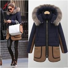 Fashion Womens Warm Winter Coat Fur Hooded long sleeve Parka Thicken Overcoat Jacket Outwear Parkas Women Winter 2017