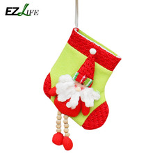 New Arrival Santa Claus Christmas Stockings Gifts Candle Holders Christmas Tree DecorationsCT0274