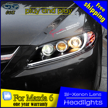 CDX Car Styling for TLZ Mazda 6 Headlights 2004-2015 for Mazda6 LED Headlight DRL Lens Double Beam H7 HID Xenon bi xenon lens