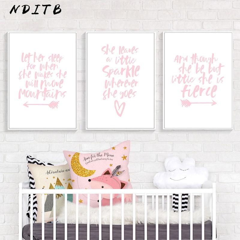 Wall Art Nursery Print She Will Move Mountains Kids Bedroom Baby Room
