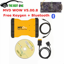 Free Keygen V5.008 MVDiag With Bluetooth TCS CDP MVD Multi Vehicle Diag WOW 5.00.8 R2 Car Truck OBDII Diagnostic Tool Up To 2016