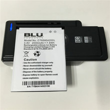 3.8V 2000mAh C765804200L BLU Life 8 Life8 L280a BLU Win HD W510 W510U W510L Battery + YIBOYUAN SS-C1 Universal Charger