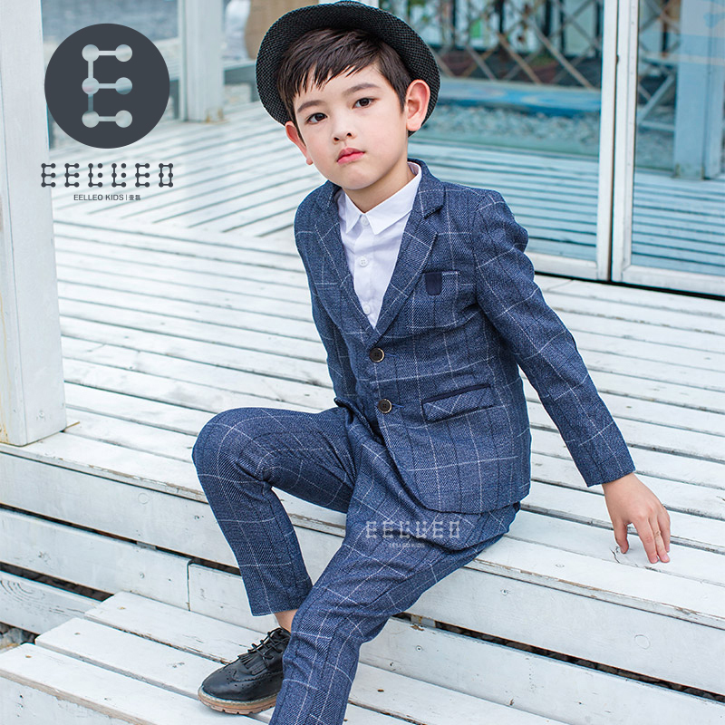 2017 Autumn Winter Boys Formal Suits for wedding 2PCS suit set Blazer Pants Gentleman Party Boy Kids Children's Clothes