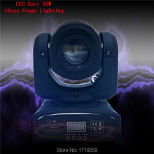 8pc/lot DMX Stage Spot Moving 8/11 Channels 30W CREE High Power LED Mini Moving Head Fast Shipping