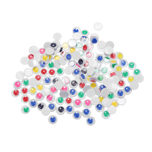 CCINEE 200PC 8mm Wiggly Doll Eyes For DIY Craft Decoration Doll Toys Self-Adhesive Colorful Toy Eyes Movable Dolls Accessories(China)