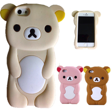 Cover For iPhone 5C Case  3D Cute Brown Bear Rilakkuma Silicone Case For iPhone 5C 5 C Cover Capa Funda Protector Cases