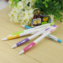 5 PCS/lot Hot Sale Stationery Store Blue Ink Ballpoint Pens School Office Supplies Classical White Flexible Pens(China)