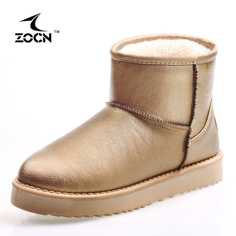 ZOCN Women Snow Boots New Warm Winter Ankle Boots For Women With Fur Winter Boots Thermal Fashion Gold White Stivali Donna 35-40<br><br>Aliexpress