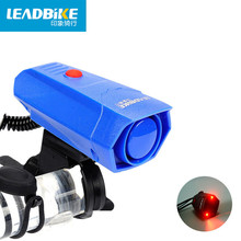 Leadbike New Bicycle Electronic Horns With 2 LED Light 6 Sounds Cycling Handlebar Ring Bell Horn Bike Air Alarm Free shipping