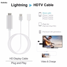 Hot Sale HDMI HDTV TV Adapter USB Cable 1080P Full HD Output Resistant Cable For Iphone Video Signal Transmission(China)