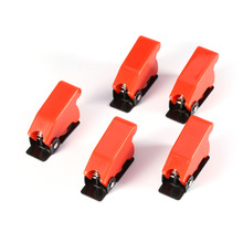5 Pcs / Lot Safety Plastic Switch Flip Cap Cover Guard For Toggle Switch SAC-1 Red Black