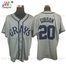 Josh Gibson #20 Homestead Grays Negro National League Baseball Jersey Throwback For Mens Gray New Material Stitched Button Down