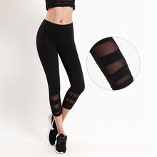 New Summer Style Black Women Leggings Fitness High Waist Quality Mesh Breathable Female Leggins Comfortable Gyming Workout Pants(China)