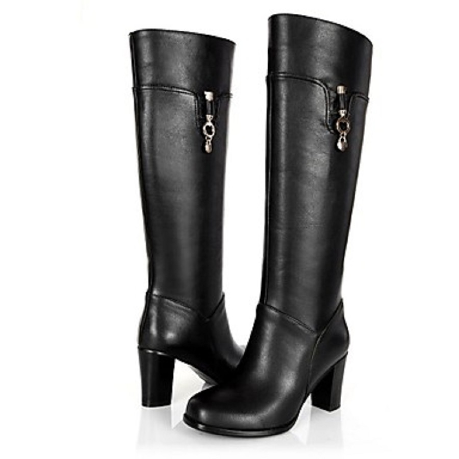 BC Women Avini Calf Hair Casual Chunky Heel Pointed Toe Knee High Boots With Plaid Office &amp; Career, Outdoor<br><br>Aliexpress