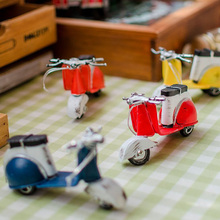 Retro Tinplate Metal Mini Vespa Models Collection Classic Handmade Arts And Crafts Pedal Motorcycle