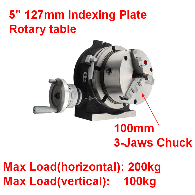 PRECISION HV6 ROTARY TABLE 4 SLOTS WITH  INDEXING//DIVIDING PLATE SET