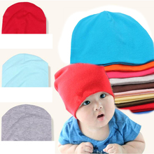 Thick Quality Knitted Cotton Baby Hat kids cap for boys girls solid color soft hat Spring Autumn Winter thick baby Beanies