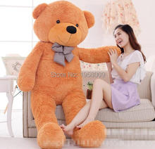 "6.3 FEET TEDDY BEAR STUFFED LIGHT BROWN GIANT JUMBO 72"" size:160cm birthday gift"
